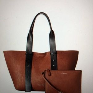 CK Jane bubble lamb belted east/west tote